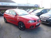 USED 2007 57 SEAT IBIZA 1.4 FORMULA SPORT 3d 99 BHP NEED FINANCE? WE CAN HELP. WE STRIVE FOR 94% ACCEPTANCE