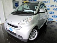 2008 SMART FORTWO 1.0 PASSION 2d 70 BHP £2395.00