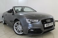 USED 2015 15 AUDI A5 3.0 TDI QUATTRO S LINE SPECIAL EDITION PLUS 2DR AUTOMATIC 242 BHP HEATED S-LINE LEATHER SEATS + SAT NAVIGATION + REVERSE CAMERA + PARKING SENSOR + BLUETOOTH + CRUISE CONTROL + MULTI FUNCTION WHEEL + 19 INCH ALLOY WHEELS