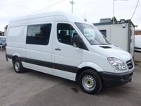 USED 2013 13 MERCEDES-BENZ SPRINTER 313 CDI MWB 7 SEATER WELFARE UNIT, 130 BHP [EURO 5], 1 COMPANY OWNER