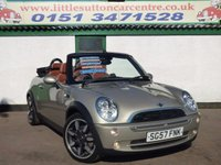 USED 2007 57 MINI CONVERTIBLE 1.6 ONE SIDEWALK 2d 89 BHP FULL SERVICE HISTORY, CONVERTIBLE, FULL 12 MONTHS MOT