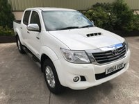 USED 2015 64 TOYOTA HI-LUX 3.0 INVINCIBLE 4X4 D-4D DCB 1d 169 BHP FULL LEATHER, SAT NAV, REVERSE CAMERA, NEW LINER, NEVER TOWED