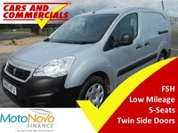 USED 2015 65 PEUGEOT PARTNER CREW CAB L2 715 S 92ps