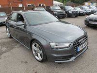 USED 2012 61 AUDI A4 3.0 AVANT TDI S LINE 5d AUTO 201 BHP + FULL 2 TONE LEATHER