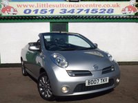 USED 2007 07 NISSAN MICRA 1.6 CHIC CC 2d 109 BHP CONVERTIBLE WITH 57,000 MILES, MOT JULY 2018