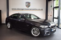 USED 2014 63 BMW 5 SERIES 2.0 520D M SPORT 4DR AUTO 181 BHP + FULL BLACK LEATHER INTERIOR + FULL BMW SERVICE HISTORY + BUSINESS SATELLITE NAVIGATION + BLUETOOTH + HEATED SPORT SEATS + DAB RADIO + CRUISE CONTROL + PARKING SENSORS + 18 INCH ALOY WHEELS +
