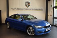 USED 2014 14 BMW 4 SERIES 2.0 420D M SPORT 2DR AUTO 181 BHP + FULL BEIGE LEATHER INTERIOR + BUSINESS SATELLITE NAVIGATION + BLUETOOTH + HEATED SPORT SEATS + XENON LIGHTS + DAB RADIO + CRUISE CONTROL + PARKING SENSORS + 19 INCH ALLOY WHEELS +