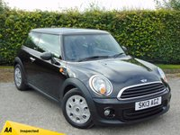 USED 2013 13 MINI HATCH FIRST 1.6 FIRST 3d * FULL SPECIALIST SERVICE HISTORY *128 POINT AA INSPECTED *