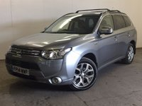 USED 2014 14 MITSUBISHI OUTLANDER 0.0 PHEV GX 4HS 5d AUTO 162 BHP SAT NAV SUNROOF LEATHER ONE OWNER FSH 4WD. SATELLITE NAVIGATION. SUNROOF. STUNNING GREY MET WITH FULL BLACK LEATHER TRIM. ELECTRIC HEATED SEATS. CRUISE CONTROL. 18 INCH ALLOYS. COLOUR CODED TRIMS. PRIVACY GLASS. REVERSING CAMERA. BLUETOOTH PREP. AIR CON. R/CD PLAYER. PADDLESHIFT AUTO. MFSW. MOT 08/18. ONE OWNER FROM NEW. FULL DEALER SERVICE HISTORY. FCA FINANCE APPROVED DEALER. TEL 01937 849492