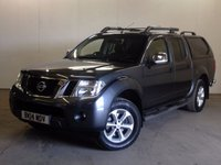 USED 2014 14 NISSAN NAVARA 2.5 DCI TEKNA 4X4 SHR DCB 1d AUTO 188 BHP HARDTOP CANOPY SAT NAV LEATHER ONE OWNER COMMERCIAL (£11200+2240VAT). 4WD AUTO MODEL. HARDTOP CANOPY. SATELLITE NAVIGATION. STUNNING GREY WITH FULL GREY LEATHER TRIM. ELECTRIC HEATED SEATS, CRUISE CONTROL. AIR CON. RUNNING BOARDS. 17 INCH ALLOYS. COLOUR CODED TRIMS. PRIVACY GLASS. REVERSING CAMERA. BLUETOOTH PREP. PAS. EW. MFSW. TOWBAR. MOT 02/18. ONE OWNER FROM NEW. FULL DEALER SERVICE HISTORY. FCA FINANCE APPROVED DEALER. TEL 01937 849492