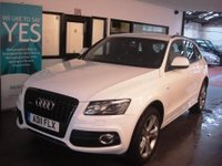 USED 2011 11 AUDI Q5 2.0 TDI QUATTRO S LINE SPECIAL EDITION 5d AUTO 170 BHP Ibis White with Black Leather/ Alcantara seats. Huge specification and great condition.