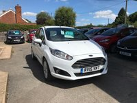USED 2015 15 FORD FIESTA 1.2 ZETEC 5d 81 BHP NEED FINANCE? WE CAN HELP. WE STRIVE FOR 94% ACCEPTANCE