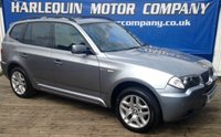 USED 2005 55 BMW X3 2.0 D M SPORT 5d 148 BHP STUNNING 55 BMW X3 M-SPORT MANUAL IN SILVER GREY METALLIC FULLY COLOUR CODED FRONT AND REAR PDC FULL SERVICE HISTORY 7 SERVICE STAMPS 18inch ALLOYS FULL BLACK SPORTS LEATHER MOT JULY 2018