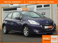 USED 2012 62 PEUGEOT 208 1.4 ACTIVE 3d 95 BHP Low Mileage ,4 Service Stamps , Bluetooth ,DAB Radio
