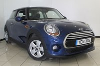 USED 2014 14 MINI HATCH COOPER 1.5 COOPER PEPPER PACK 3DR 134 BHP AIR CONDITIONING + BLUETOOTH + RADIO/CD + ELECTRIC WINDOWS + 15 INCH ALLOY WHEELS