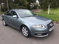 USED 2009 09 AUDI A6 2.0 TDI E SE 4d 134 BHP 2 OWNERS WITH FSH SAT NAV FULL BLACK LEATHER