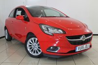USED 2015 15 VAUXHALL CORSA 1.2 SE CDTI ECOFLEX S/S 3DR 94 BHP HEATED HALF LEATHER SEATS + SERVICE HISTORY + AIR CONDITIONING + PARKING SENSOR + BLUETOOTH + CRUISE CONTROL + MULTI FUNCTION WHEEL + 16 INCH ALLOY WHEELS