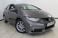 USED 2013 13 HONDA CIVIC 2.2 I-DTEC EX 5DR 148 BHP FULL SERVICE HISTORY + HEATED LEATHER SEATS + SAT NAVIGATION + REVERSE CAMERA + BLUETOOTH + CRUISE CONTROL + MULTI FUNCTION WHEEL + 16 INCH ALLOY WHEELS