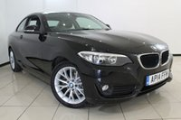 USED 2014 14 BMW 2 SERIES 2.0 218D SE 2DR 141 BHP LEATHER SEATS + AIR CONDITIONING + PARKING SENSOR + BLUETOOTH + CRUISE CONTROL + MULTI FUNCTION WHEEL + 17 INCH ALLOY WHEELS