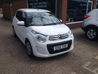 2015 CITROEN C1 1.0 FEEL 5 DOOR 68 BHP LOW MILEAGE IN WHITE £6490.00