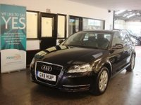 USED 2011 11 AUDI A3 1.4 SPORTBACK TFSI 5d 123 BHP This A3 is finished in Brilliant Black Metallic with Black cloth seats. It is fitted with power steering, remote locking, electric windows and mirrors, air con, rear parking sensors, alloy wheels It has had 3 owners in total. It has a full service history consisting of seven stamps, 5 @ Audi and last serviced @ 44343 miles. The current Mot runs till 30/06/2018. We will supply the car with 6 months warranty. Finance and extended warranties are available. This A3 is the rare 1.4 TFSi Model.
