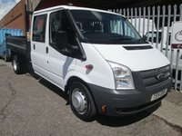 2014 FORD TRANSIT 350 Double Cab Steel Tipper 100 PS *ONE OWNER*39000 MILES* £11995.00
