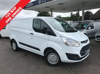 USED 2014 64 FORD TRANSIT CUSTOM 2.2 290 TREND LR P/V 1d 125 BHP 125 BHP, Cruise Control, Colour Coded Bumper, Finance Arranged.