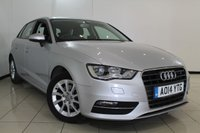 USED 2014 14 AUDI A3 1.6 TDI SE 5DR 104 BHP AIR CONDITIONING + RADIO/CD + ELECTRIC WINDOWS + ELECTRIC MIRRORS + ALLOY WHEELS