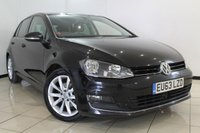 USED 2013 63 VOLKSWAGEN GOLF 2.0 GT TDI BLUEMOTION TECHNOLOGY 5DR 148 BHP SERVICE HISTORY + AIR CONDITIONING + PARKING SENSOR + BLUETOOTH + CRUISE CONTROL + MULTI FUNCTION WHEEL + 17 INCH ALLOY WHEELS