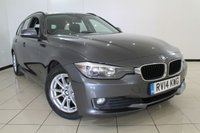 USED 2014 14 BMW 3 SERIES 2.0 320D EFFICIENTDYNAMICS BUSINESS TOURING 5DR 161 BHP HEATED LEATHER SEATS + SAT NAVIGATION + PARKING SENSOR + BLUETOOTH + CRUISE CONTROL + MULTI FUNCTION WHEEL + DAB RADIO + 16 INCH ALLOY WHEELS