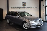 USED 2014 63 MERCEDES-BENZ C CLASS 2.1 C220 CDI EXECUTIVE SE PREMIUM 5DR 168 BHP + FULL BLACK LEATHER INTERIOR + FULL MERC SERVICE HISTORY + 1 OWNER FROM NEW + SATELLITE NAVIGATION + BLUETOOTH + HEATED SPORT SEATS + REVERSE CAMERA + DAB RADIO + CRUISE CONTROL + PARKING SENSORS + 17 INCH ALLOY WHEELS +