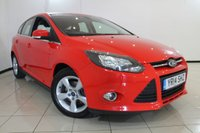 USED 2014 14 FORD FOCUS 1.6 ZETEC NAVIGATOR ECONETIC TDCI START/STOP 5DR 104 BHP FULL SERVICE HISTORY + AIR CONDITIONING + CRUISE CONTROL + MULTI FUNCTION WHEEL + RADIO/CD + 16 INCH ALLOY WHEELS