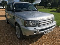 USED 2008 57 LAND ROVER RANGE ROVER SPORT 3.6 TDV8 SPORT HSE 5d AUTO 269 BHP HEATED LEATHER, PARK ASSIST, SATNAV