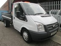 2014 FORD TRANSIT 350 2.2 TDCi 100 PS Single Cab Steel Tipper *Only 52000 miles* £SOLD