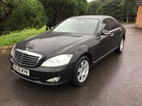 USED 2008 08 MERCEDES-BENZ S CLASS 3.0 S320 CDI 4d AUTO 231 BHP SUPERB CONDITION IN BLACK WITH BLACK LEATHER FSH WITH MERCEDES