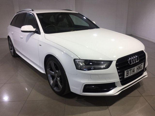 View our 2014 14 AUDI A4 2.0 AVANT TDI S LINE BLACK EDITION 5d AUTO 174 BHP