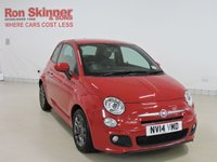 USED 2014 14 FIAT 500 0.9 TWINAIR S 3d 105 BHP with rear parking sensor