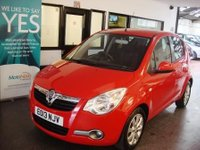 USED 2013 13 VAUXHALL AGILA 1.2 SE 5d AUTO 93 BHP FULLY AUTOMATIC...Dealer + one owner from new, Full Vauxhall service history- 4 stamps done @ 2381/4818/6901/9123 miles, Finished in blaze red, existing MOT is 27/03/2018, we will Supply with 12 months Mot. Road tax is £135 for a year - Black cloth seats. It is fitted with power steering, air con, tinted glass, remote central locking, rear wash wipe, CD Stereo and more.  It has only covered 10006 miles from new!!. We will supply the car with a new Mot and a 6 month warranty.