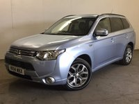 USED 2014 14 MITSUBISHI OUTLANDER 0.0 PHEV GX 4H 5d AUTO 162 BHP 4WD SAT NAV SUNROOF LEATHER  ONE OWNER FSH NOW SOLD.