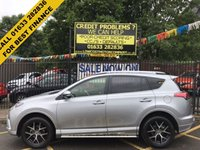 USED 2017 17 TOYOTA RAV4 2.0 D-4D ICON TSS 5d 143 BHP STUNNING SILVER METALLIC. VERY HIGH SPECIFICATION. ONE OWNER LOW MILEAGE. SAT NAV. REVERSE CAMERA. LANE ASSIST. CRUISE CONTROL. PRIVACY GLASS. HEATED SEATS. BLUETOOTH.PARKING SENSORS. THE BEST FINANCE RATES AVAILABLE