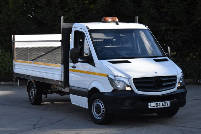 2014 64 MERCEDES-BENZ SPRINTER 2.1 313 CDI 2d 129 BHP RWD LWB EURO 5 DIESEL MANUAL DROPSIDE LORRY VAN 1 OWNER FULL/SH 14 FOOT LENGTH