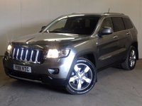 USED 2011 11 JEEP GRAND CHEROKEE 3.0 V6 CRD LIMITED 5d AUTO 237 BHP SAT NAV LEATHER PRIVACY PDC 4WD. SATELLITE NAVIGATION. STUNNING GREY MET WITH FULL BLACK LEATHER TRIM. ELECTRIC MEMORY HEATED SEATS. CRUISE CONTROL. 20 INCH ALLOYS. COLOUR CODED TRIMS. PRIVACY GLASS. PARKING SENSORS. ELECTRIC TAILGATE. REVERSING CAMERA. BLUETOOTH PREP. AIR CON. R/CD PLAYER. HEATED MFSW. TOWBAR. MOT 08/18. SERVICE HISTORY. FCA FINANCE APPROVED DEALER. TEL 01937 849492