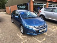 USED 2010 10 HONDA INSIGHT 1.3 IMA ES 5d AUTO 100 BHP HYBRID IN MET BLUE APPROVED CARS ARE PLEASED TO OFFER THIS HONDA INSIGHT 1.3 IMA ES 5 DOOR AUTOMATIC 100 BHP WITH A FULLY DOCUMENTED SERVICE HISTORY A GREAT HYBRID CAR AT VERY SENSIBLE MONEY..