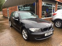 2010 BMW 1 SERIES 2.0 118D SE 5d 141 BHP DIESEL IN BLACK £6290.00