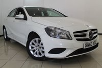 USED 2013 63 MERCEDES-BENZ A CLASS 1.5 A180 CDI BLUEEFFICIENCY SE 5DR 109 BHP HALF LEATHER SEATS + SAT NAVIGATION + AIR CONDITIONING + BLUETOOTH + MULTI FUNCTION WHEEL + RADIO/CD + 16 INCH ALLOY WHEELS