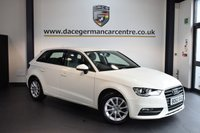 USED 2014 63 AUDI A3 2.0 TDI SE 5DR 148 BHP + FULL SERVICE HISTORY + 1 OWNER FROM NEW + BLUETOOTH + SPORT SEATS + DAB RADIO + AUXILIARY PORT + HEATED MIRRORS + 16 INCH ALLOY WHEELS +