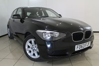 USED 2013 63 BMW 1 SERIES 1.6 114D ES 5DR 94 BHP AIR CONDITIONING + RADIO/CD + ELECTRIC WINDOWS + ELECTRIC MIRRORS + 16 INCH ALLOY WHEELS