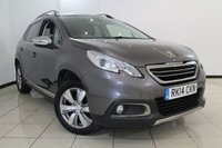 USED 2014 14 PEUGEOT 2008 1.2 ALLURE 5DR AUTOMATIC 82 BHP FULL SERVICE HISTORY + HALF LEATHER SEATS + AIR CONDITIONING + P SENSOR + BLUETOOTH + CRUISE CONTROL + MULTI FUNCTION WHEEL + 16 INCH ALLOY WHEELS