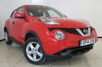 USED 2014 14 NISSAN JUKE 1.5 VISIA DCI 5DR 110 BHP NISSAN SERVICE HISTORY + AIR CONDITIONING + RADIO/CD + ELECTRIC WINDOWS + ELECTRIC MIRRORS + 16 INCH ALLOY WHEELS