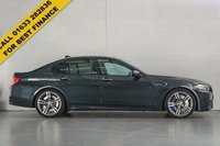 """USED 2014 64 BMW 5 SERIES 4.4 M5 4d AUTO 553 BHP STUNNING SINGAPORE GREY METALLIC WITH  SAKHIR ORANGE EXTENDED MERINO LEATHER UPHOLSTERY. ONE OWNER VEHICLE. HARMAN KARDON SOUND SYSTEM. 20"""" ALLOY WHEELS. SAT NAV. CRUISE CONTROL. DAB RADIO. PADDLE SHIFT. FINANCE FROM 2.7% PER ANNUM FLAT. THIS IS THE CHEAPEST LIKE FOR LIKE M5 ON AUTOTRADER."""